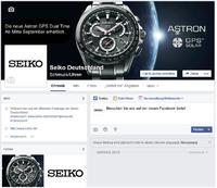 Seiko Deutschland startet auf Facebook