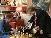 Erbprinz von Baden empfängt Hansjörg Vollmer