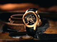 BASELWORLD 2015: Ulysse Nardin Hourstriker Oil Pump erstrahlt in Gold.