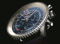 The Navitimer GMT chronograph featuring an exclusive blue dial